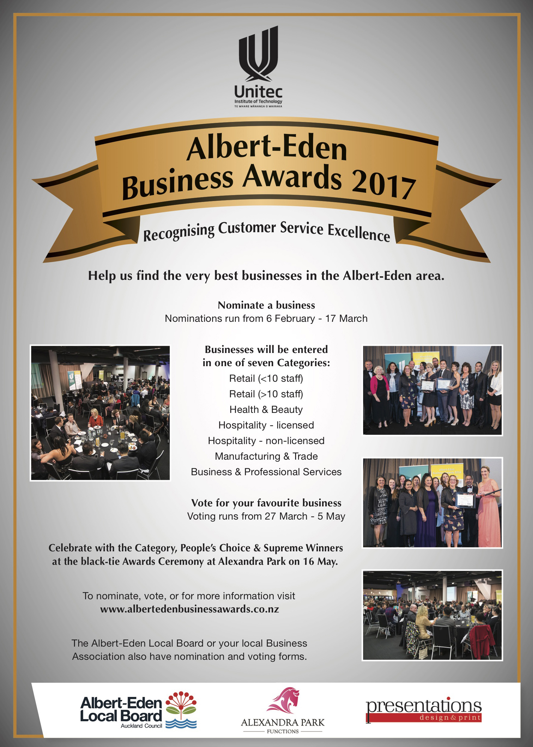 Albert Eden Biz Awards 2017